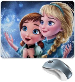 """Коврик для мышки """"Frozen Little Elsa and Anna"""" - frozen, elsa, anna, холодное сердце"""
