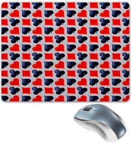 """Коврик для мышки """"Карты"""" - карты, черно-красные, игры, символы, масти"""