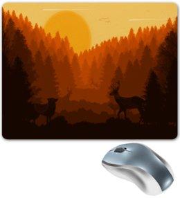 """Коврик для мышки """"Природа леса"""" - животные, лес, деревья, природа, пейзаж"""