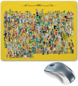 "Коврик для мышки ""Весь Спрингфилд"" - симпсоны, гомер симпсон, комедия, the simpsons, спрингфилд"