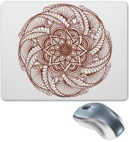 """Коврик для мышки """"Цветок в стиле росписи хной"""" - цветы, этнический, индийский, мехенди"""