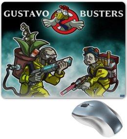 """Коврик для мышки """"Breaking Bad vs Gustavo Busters"""" - охотники за привидениями, во все тяжкие, breaking bad, подарок на новый год, подарок на 23 февраля, на день рождения, ghostbusters"""