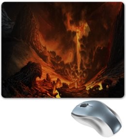 """Коврик для мышки """"Огонь"""" - игры, огонь, компьютерные игры, вулкан, лава"""