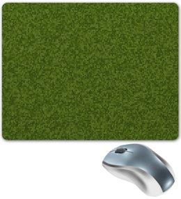 """Коврик для мышки """"Пиксель"""" - квадрат, абстракция, трава, мох, grass"""