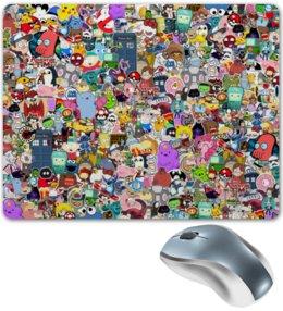 "Коврик для мышки ""STICKERS"" - арт, стиль, дизайн, мульт, фэн-арт"