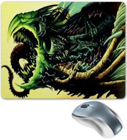 """Коврик для мышки """"Чудовище"""" - игры, монстр, зеленый, зверь, скорость"""