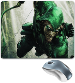 """Коврик для мышки """"Стрела"""" - comics, dc, superhero, green arrow, зелёная стрела"""