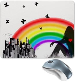 """Коврик для мышки """"Мечты..."""" - мечты замечталась девушка радуга город"""