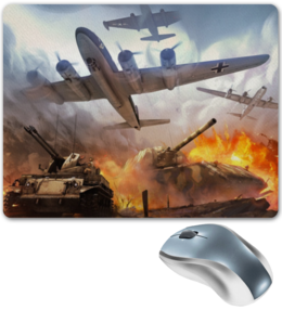 "Коврик для мышки ""War Thunder"" - арт, war, танк, самолёт, thunder"