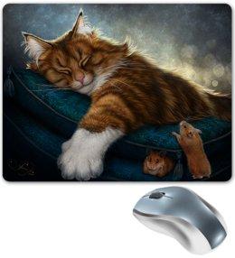"""Коврик для мышки """"КОШКИ ФЭНТЕЗИ"""" - кот, стиль, красота, сказка, мыши"""