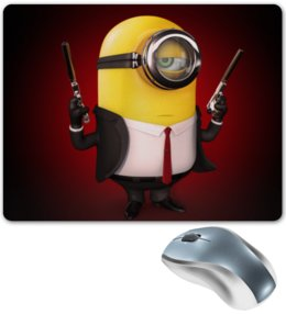 """Коврик для мышки """"Minion (Миньон)"""" - миньон, гадкий я, minion"""