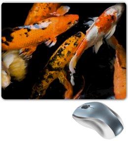 "Коврик для мышки ""Карпы на удачу          "" - удача, япония, рыбки, алина макарова, карпы"
