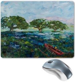 """Коврик для мышки """"Заболоченное озеро"""" - арт, импрессионизм"""
