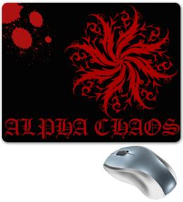 """Коврик для мышки """"Alpha Chaos"""" - арт, оригинально, выделись из толпы"""