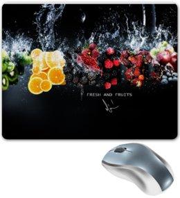 """Коврик для мышки """"Fresh and Fruits(Фрукты)"""" - фрукты, fruit, fresh, ninja, fruits"""