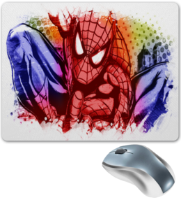 """Коврик для мышки """"Pop Art"""" - арт, комиксы, человек паук, марвел"""