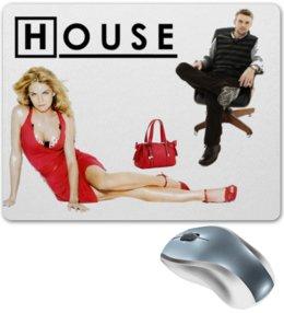 "Коврик для мышки ""Доктор Хаус - Джесси Спенсер & Дженифер Моррисон"" - house, доктор хаус, джесси спенсер, дженифер моррисон, jennifer morrison"