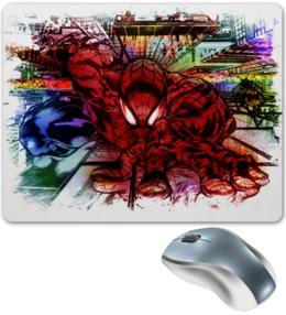 """Коврик для мышки """"Pop Art"""" - арт, поп арт, комиксы, человек паук, марвел"""