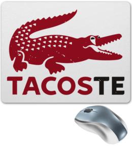 "Коврик для мышки ""Tacoste"" - крокодил, lacoste, deadpool, марвел, дэдпул"