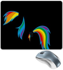 "Коврик для мышки ""RainbowDash :D"" - арт, mlp, my little pony, пони, dash, magic"