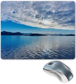 """Коврик для мышки """"Остров в море"""" - море, облака, природа, пейзаж, остров"""