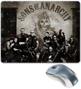 """Коврик для мышки """"Сыны анархии"""" - sons of anarchy, сыны анархии, soa"""