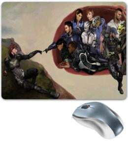 "Коврик для мышки ""Mass Effect (Шепард и команда)"" - mass effect, shepard, джейкоб, garrus, liara"