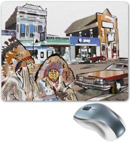 """Коврик для мышки """"Индейцы. Путешествие по США"""" - авто, usa, сша, автомобили, путешествия, машины, индейцы, road trip, native americans"""