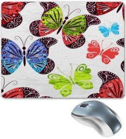 """Коврик для мышки """"Насекомые"""" - бабочка, бабочки, крылья, узор, насекомые"""