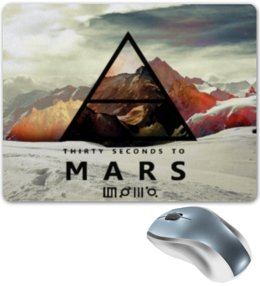 "Коврик для мышки ""30 Seconds To Mars"" - 30 seconds to mars, 30 секунд до марса, echelon, триада, эшелон, triad"