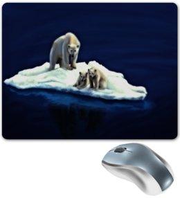 """Коврик для мышки """"Медведи"""" - животные, море, медведи, лед, льдина"""