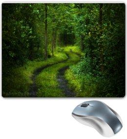 """Коврик для мышки """"Дорожка в лесу  """" - лес, природа"""