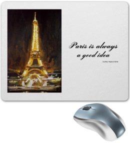 "Коврик для мышки ""Париж"" - шоколад, париж, одри хепберн, paris, эйфелева башня"