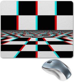 """Коврик для мышки """"Квадраты"""" - графика, абстракция, кубики, квадраты, шахматная доска"""