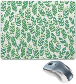 """Коврик для мышки """"Листья"""" - зелень, трава, листва, природа, листья"""