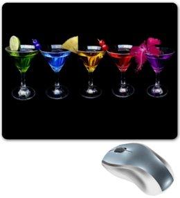"""Коврик для мышки """"Коктейли"""" - алкоголь, вечеринка, напитки, коктейль"""