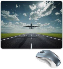 """Коврик для мышки """"sky"""" - самолет, авиа, авиация, pilot, пилот, aviation"""