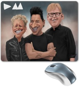 "Коврик для мышки ""Depeche Mode"" - depeche mode, депеш мод, dm, dave gahan, martin gore"