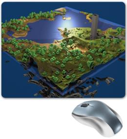 """Коврик для мышки """"Мир Minecraft коврик для мыши"""" - minecraft, игры"""