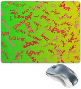 """Коврик для мышки """"Любовь"""" - сердце, любовь, узор, надписи, день влюбленных"""