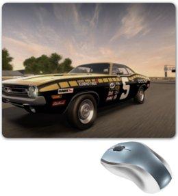 "Коврик для мышки ""Dodge Challenger"" - dodge challenger, гонка, трек, need for speed shift"