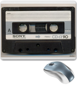 """Коврик для мышки """"Аудио кассета"""" - прикольные, оригинально, креативно"""