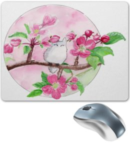 """Коврик для мышки """"Цветущая яблоня"""" - цветы, весна, тоторо, цветы яблони, романтика"""