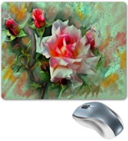 """Коврик для мышки """"Цветущие розы"""" - цветы, весна, цветочки, розы, букет"""