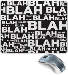 """Коврик для мышки """"Чепуха"""" - надписи, английский, буквы, чушь, чепуха"""