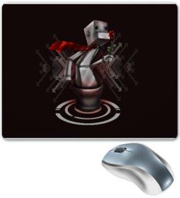 """Коврик для мышки """"Романтичный робот с цветком"""" - прикол, смешное, цветок, оригинально, робот"""