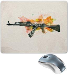 "Коврик для мышки ""AK-47 | Wasteland Rebel"" - ак-47, counter strike, оружие, cs go, контра"