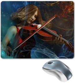 """Коврик для мышки """"МУЗЫКА ФЭНТЕЗИ"""" - музыка, девушка, стиль, красота, скрипка"""