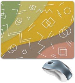 """Коврик для мышки """"Графическая абстракция."""" - радуга, фигура, графика, абстракция, искусство"""