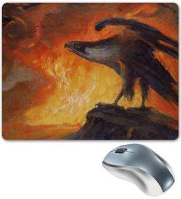 """Коврик для мышки """"Имперский орел"""" - арт, животные, стиль, искусство, огонь"""
